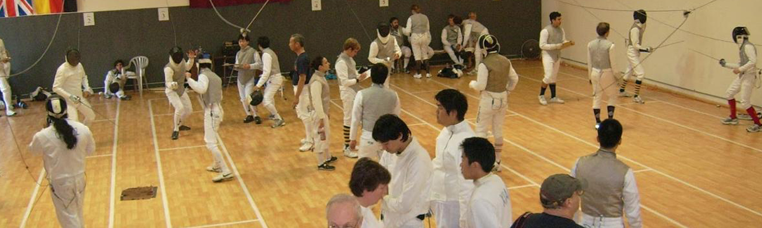 Students Practicing Fencing